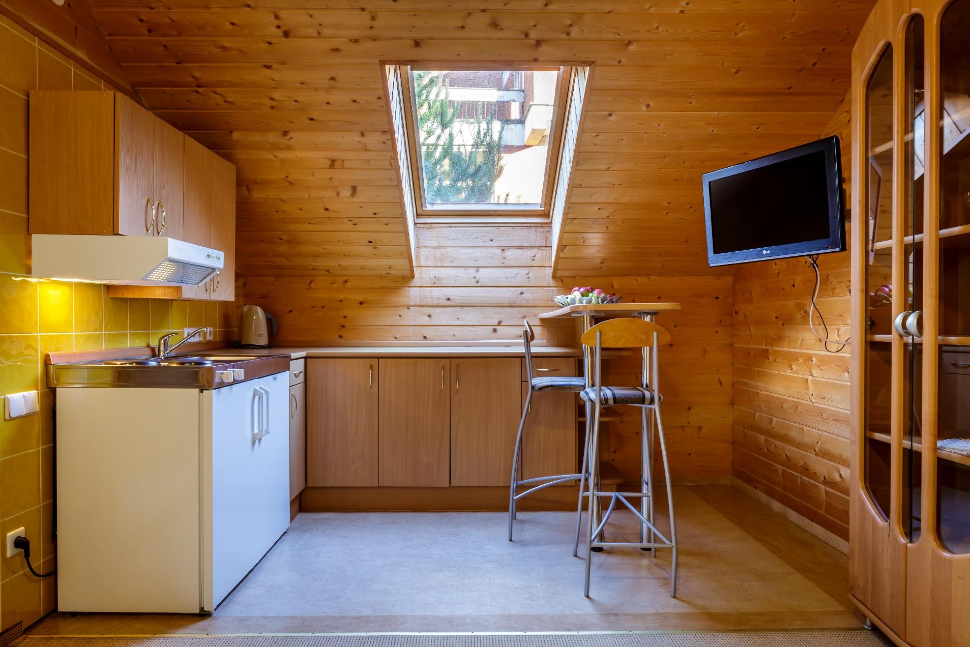 Mini virtuvėle ir tv